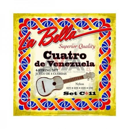 CUERDAS CUATRO VENEZOLANO C11 LA BELLA