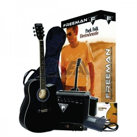 GUITARRA FOLK BK PACK FREEMAN