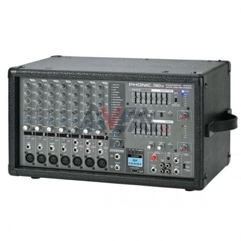 MIXER C/POWER POWERPOD740R PHONIC